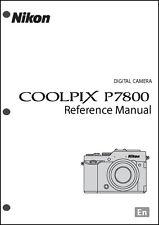 Nikon CoolPix P7800 Reference Digital Camera User Guide Instruction Manual