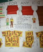 Vintage Pre Printed Material with Ken DOLL Clothes (early 1960s)