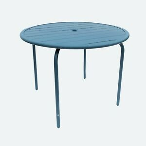 MADE.COM Tice Garden 4 Seater Dining Table, Teal RRP £99 Defect, Unused From Box