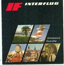 Streckenkarte Interflug