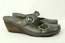 Bare Traps Women's Mules Leather Gunmetal Size 9.5M