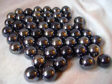 NEW 50 BRONTOSAURUS 14mm BLUE BLACK GLASS MARBLES TRADITIONAL COLLECTORS ITEMS