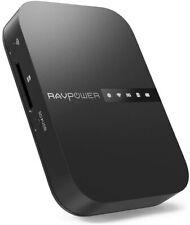 RAVPower FileHub AC750 Wireless Travel Router Portable Hard Drive Companion SD