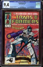 Transformers # 3 CGC 9.4 White (Marvel, 1985) Early Black Suit Spider-Man