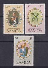 1981 Royal Wedding Charles & Diana MNH Stamp Set Samoa SG 599-601