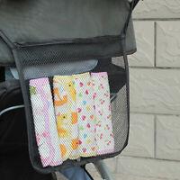 KQ_ Baby Stroller Hanging Net Mesh Bag Trolley Organizer Storage Basket Welcome