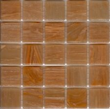25pcs SM32 Tan Bisazza Smalto Italian Glass Mosaic Vitreous Tiles 2cm x 2cm