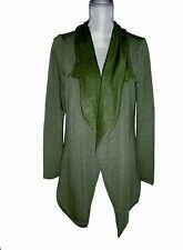 Danskin Women's BB French Terry Wrap Sweater Jacket NWT Olive Green Sml