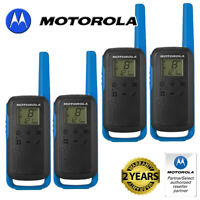 8Km Motorola TLKR T62 Walkie Talkie Two Way PMR Security Leisure Radio Quad Blue