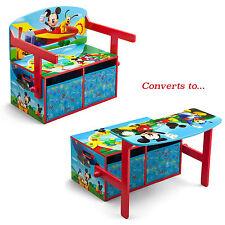 DELTA CHILDREN DISNEY MICKEY MOUSE CONVERTIBLE BENCH / DESK / TOY STORAGE BOX