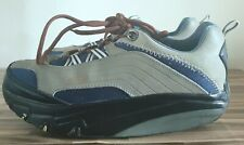MBT Trainers Beige Grey Blue Shaping Toning Shoes Womens UK 7.5 EU 41.5