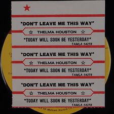 THELMA HOUSTON: Don't Leave Me This Way / Today will Soon Be TAMLA Soul 45