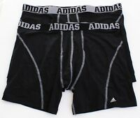 Adidas ClimaCool Micro Mesh Black Boxer Brief Underwear 2 in Package Men's NWT