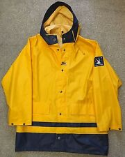 VINTAGE HELLY HANSEN OILSKIN SAILING WATERPROOF SAILING COAT JACKET M MEDIUM