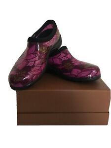 NWOT SLOGGERS Spring Suprise Pink Rain Or Garden Waterproof Shoes - Size 6
