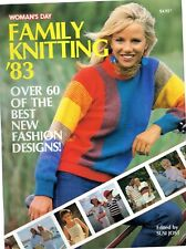 Woman's Day  FAMILY KNITTING '83 book