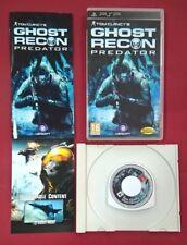 Tom Clancy's Ghost Recon Predator - PSP - USADO - BUEN ESTADO