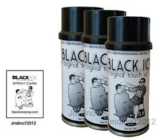 3 New Black Ice Chromatone Hair Color Spray - Black - 4 Oz + Spray Card
