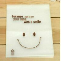 100Pcs Candy Cookie Plastic Bags Self-adhesive Smile Face Baking Packing Bags