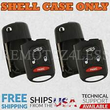 2 for 2008 2009 Dodge Dakota Remote Shell Case Car Key Fob Cover