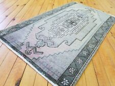 "Rare Antique 1900-1930s 1'8""×2'11"" Wool Pile, Muted Oushak Rug Western Turkey"