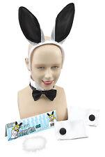 New Bunny Girl White & Black Play Girl Hen Night Rabbit Party Set Fancy Dress