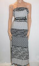 Trixxi Brand Black White Belted Strapless Maxi Dress Size S BNWT #TG20