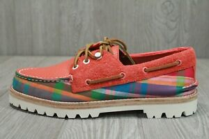 63 Rare Sperry Top Sider Madras Cloud Collection Boat Shoes Men's Sizes 9, 11