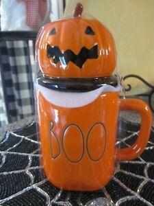Rae Dunn Halloween 2021 BOO Orange Mug With Pumpkin Topper *Please Read*
