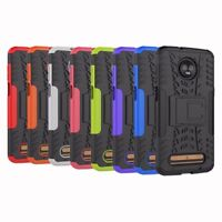 Hybrid Rugged Armor Shockproof Hard Case Stand Cover For Motorola Moto Z3 Play