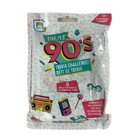 The 90's Trivia Challenge Game 2019 Games Hub 52 Question Cards 6 Categories NEW