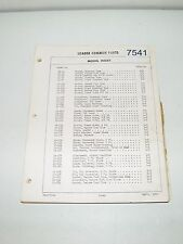 Ford Loader Cylinders Control Valves Pumps Buckets Parts Catalog 1963 PA8762