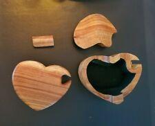 Novelty Wooden Jigsaw Puzzle Trinket Jewelry Stash Box 4 pieces