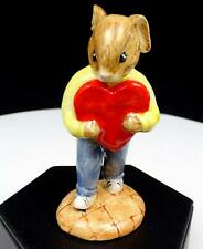 "Royal Doulton #Db130 Sweetheart Bunnykins Red Heart 3 3/4"" Figurine 1992-1997"