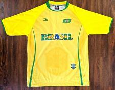Brazil Soccer Football Jersey Men's Cbf Shirt Drako Size S/M - Yellow Green