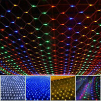 LED String Net Mesh Curtain Lights Xmas Waterproof Outdoor Home Party Decor