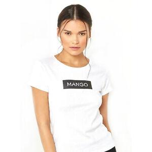 Womens Ex Mango 2 Pcs Pack T Shirt Top Soft Cotton Mango Print Ladies T Shirt
