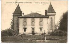 Chatenet en Dognon (87) Chateau de Brutines. Voir timbres au verso.