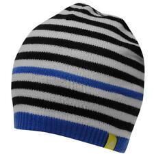 Beanie Adidas Blue Stripes Hat Woolie Junior Size Boys School Winter Runnning