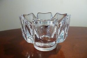 Stunning Quality Orrefors Crystal Corona Bowl- Unused - Signed-  In Perfect Cond