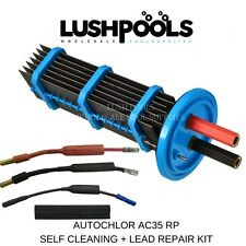 Auto Chlor AC35 Autochlor 35AMP RP Self Cleaning Cell + LEAD KIT 5 YR Warranty