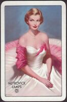 Playing Cards 1 Single Card Old METROVICK LAMPS Lightbulb Advertising Art GIRL D