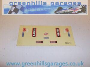 Greenhills Scalextric Ferodo / Bowman / MacTools New Original Decals