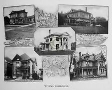 """ST.THOMAS Ontario CANADA """"Typical Residences"""" in 1906 Reprint on Pro Glossy Pape"""