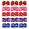 50pcs/ lot Puppy Dog Hair Bows with Band Pet Grooming Accessories for Small Dogs
