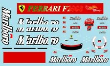F1 DECALS MUSEUM COLLECTION D477 1/18 FOR FERRARI F2008 TOBACCO DECAL