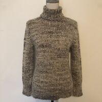 Caslon Womens Turtleneck Size Petite S Gray Heather Chunky Knit
