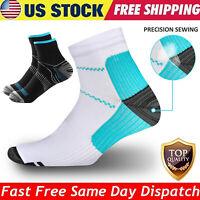 Sports Copper Compression Short Socks Plantar Fasciitis Ankle Foot Brace Support