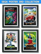 Fantasia, Sega Out Run,  Kid Chameleon, SplatterHouse 2 Game Poster (4)13x19inch