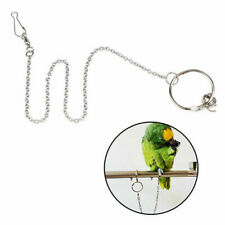 Parrot Leg Ring Ankle Foot Chain Bird Outdoor Flying Training Activity Stand Wl